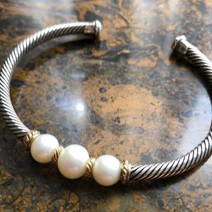 David Yurman Pearl cuff